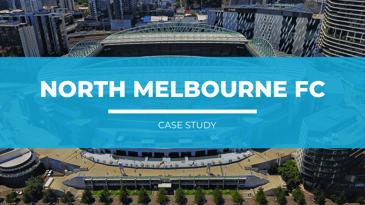 Image of Marvel Stadium with title overlaying image reading